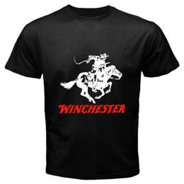 New Winchester Rifle dos homens T-Shirt Preta Tamanho S para 3XL 100% Algodão de Manga Curta O-pescoço Camiseta Top Tee Personalidade Básica 2018 venda por atacado