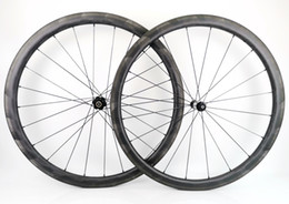 wheel set bike UK - Surper light version carbon bicycle wheels 38mm depth 25mm width clincher Tubular Road bike carbon wheelset with AC3 brake surface