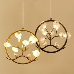 Chinese  Modern Black Gold Round Pendant Light industrial Creative Suspension Lamp Restaurant Bar Bedroom Home Lighting No79 manufacturers