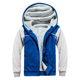 matches fashion coats Australia - New Mens Jackets Plus Velvet Thicken Color Matching Sweatshirt Street Hooded Cardigan Cotton Coat EU Size S-2XL