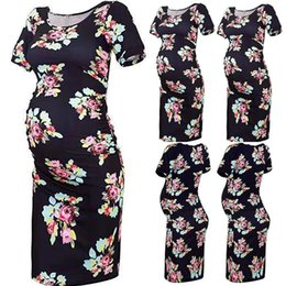 $enCountryForm.capitalKeyWord NZ - 2019 New Pregnancy Dress Women Floral Print Slim Fit Short Sleeve Casual Dresses Ropa Premama Summer Comfortable Dress Clothes