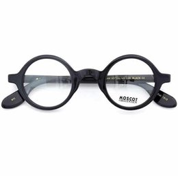 d81d9ab67a4 High Quality AAAAA+ Brand Design 42 46mm Moscot ZOLMAN Eyeglasses Johnny  Depp Round Frame Maching Prescription Glasses With Priginal Case