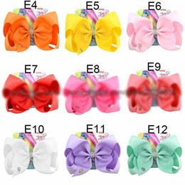 giants accessories Canada - 135 Styles 8 Inch Jojo Siwa Hair Bow With Clips Papercard Metal Logo Girls Giant Rainbow Rhinestone Hair Accessories Hairpin hairband