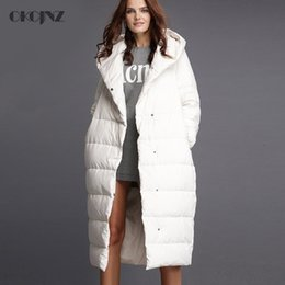 Womens Parkas Australia - 5XL Plus Size Womens Down Jackets Brands Long Goose Feather Coat Solid Thick Warm White Duck Parka 2018 Hooded Outerwear Okq013