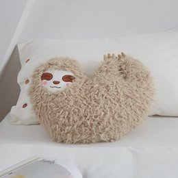 SlothS toyS online shopping - HOT Furry Sloth Cushion Stuffed Animal Plush Toy Gifts for Kids Home Sofa Decor TI99