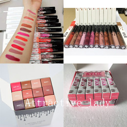Chinese  New makeup High-quality Popular 12 fashion colors Lip gloss 7 styles available matte Lipstick free shipping manufacturers