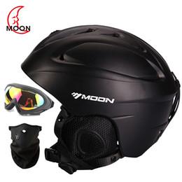 pink moto helmet 2019 - Man Woman Kids Ski Helmet Goggles Mask Gifts Snowboard Helmet Roller-skate Skateboard Sport Satety Moto Bike Climbing Ma