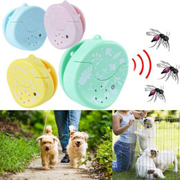 Electronics Signs UK - Ultrasonic Electronic Pest Control Bug Noiseless Fleas Sign Repellent Collars Pet Dod Cat Repeller Reject Mosquito 4 Colors