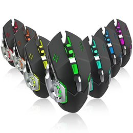 Batteries Usb Mouse Australia - 2.4GHz wireless gaming mouse Built-in rechargeable battery 2400DPI Ergonomic Design USB Mouse 7 colors of the breathing light