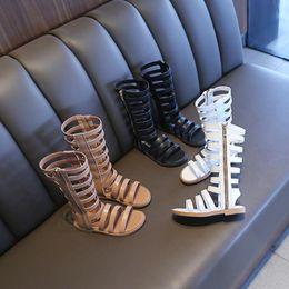 $enCountryForm.capitalKeyWord Australia - summer new Korean white high tube Roman shoes girls open toe beach shoes in the big children's tide children's sandals 4T-12T