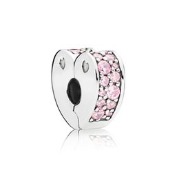 $enCountryForm.capitalKeyWord Australia - Kristie 100% 925 Sterling SilverGenuine Gem 797020PCZ PINK ARCS OF LOVE SPACER CLIP Fit DIY Bracelet Original Women Wedding