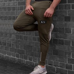 skinny trousers NZ - Skinny Jogging Pants Men Gym Training Running Pants Joggers Fitness Sweatpants Workout Tights Sport Trousers Male Pencil
