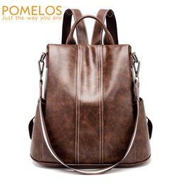 Styles Backpacks Australia - Pomelos Backpack Women 2019 New High Quality Pu Leather Fashion Backpack For Women Urban Girls Functional Anti Theft Backpack Y19052202
