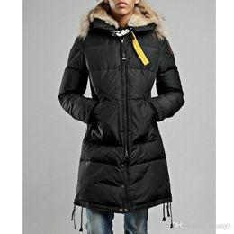 $enCountryForm.capitalKeyWord Australia - Top quality winter Women's long coat Real raccoon fur hood Thick duck down lady parka Neck metal buckle Black long black jacket women