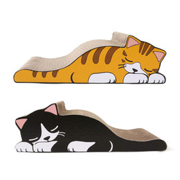 $enCountryForm.capitalKeyWord Australia - Lazy Cat Design Cat Claw Board Kitten Corrugated Scratch Board Pad Scratcher Bed Mat Care Interactive Training Pet Toy