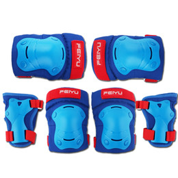 $enCountryForm.capitalKeyWord NZ - 4-6pcs Elbow Pads Knee Protector Hands Guard Set for Kids Skateboard Roller Skating Bicycle Protective Gear Ice Skating Safety