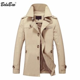 british army clothing Australia - BOLUBAO New Men Autumn Jacket Fashion British Style Brand Clothing Windbreaker Warm Jacket Coat Male Outerwear Coat