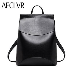 preppy style backpack NZ - Aeclvr Fashion Women Backpacks Quality Pu Leather School Backpacks For Teenage Girls Preppy Style Shoulder Bag Daypack For Women Y19051405
