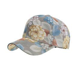 $enCountryForm.capitalKeyWord Australia - Thin and Light Print Flower Four Seasons Breathable Lace Baseball Cap Men Women Adjustable Hip Hop Hat Street Driver's Cap BQ056