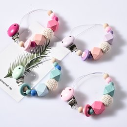 $enCountryForm.capitalKeyWord Australia - Explosive Quick sell Baby Pacifier Chain Jacket Gum Anti drop Chain Big Octagonal Wool Ball Pacifier Chain 5md M1