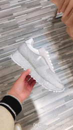 fold up flats UK - 2019 new top version Arena Kanye West Man casual shoes flat arena folds leather low cut lace women's fashion shoes shuag190413
