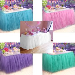 $enCountryForm.capitalKeyWord NZ - Home Textile Skirt OurWarm DIY Table Skirting Customize Handmade Tulle Tutu Table Skirt Birthday Party Wedding Decoration Home Textile