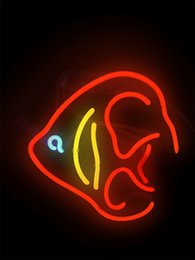 $enCountryForm.capitalKeyWord Australia - New Star Neon Sign Factory 10X10 Inches Real Glass Neon Sign Light for Beer Bar Pub Garage Room Coral Tropical Fish.