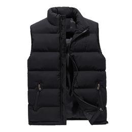 Wholesale mens green vest jacket resale online - Mens Fashion Vest Coats Slim Thick Warm Winter Outerwear Bodywarmer Streetwear Sleeveless Coats Jackets Plus Size