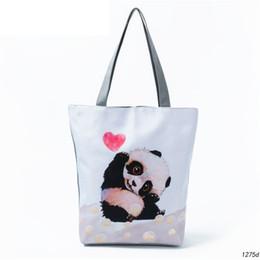Panda Cartoon Color Australia - Miyahosue Casual Cartoon Animal Design Shoulder Bag Female Lovely Panda Printed Handbag Women Daily Use Shopping Bag Lady