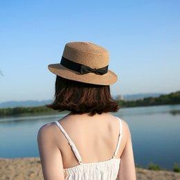 Опт 2019 простой родитель-ребенок ВС шляпа Симпатичные дети солнца шляпы лук Панама женщин соломенную шапка пляж большой шляпы случайный glris летний колпачок
