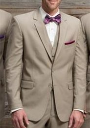 $enCountryForm.capitalKeyWord NZ - Custom Made Wedding Suits for Men Groom Tuxedos Peaked Lapel Suit Man Suits Slim Fit Prom Costume Homme(Jacket+Pants+Vest)
