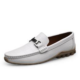 $enCountryForm.capitalKeyWord UK - Men Leather Flats Shoes 2019 Spring Summer Men's Boat Shoe Black Blue Casual Loafers Moccasin Leisure Footwear