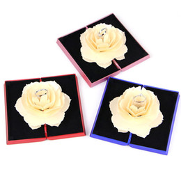 $enCountryForm.capitalKeyWord NZ - 3D Rose Flower Ring Holder Box Unique Romantic Pop Up Wedding Engagement Rings Box Case Surprise Jewelry Storage Holder Pink Red Blue
