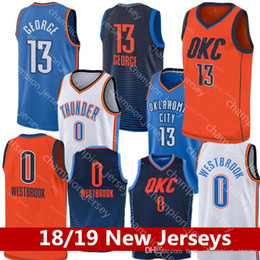 c8cbc4b0af0 Very popular 18 19 oklahoma city Jerseys Russell Westbrook Men Youth Paul  George Basketball Jersey KIDS thunder Embroidery