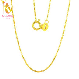7e79854aa24ad8 Nymph Genuine 18k White Yellow Gold Chain 18 Inches Au750 Cost Price  Necklace Pendant Wendding Party Gift For Women[g1002] J190611