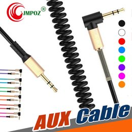 alloys chinese NZ - Aluminum Alloy Car Aux Cables 3.5mm Male to Male Right Angle Car Auxiliary Audio Cable Cord For Phone MP3 Car Stereo Top Quality