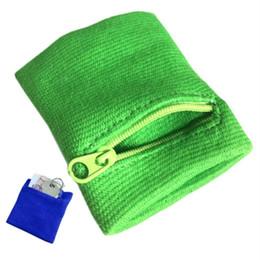 Wholesale Wrist Zipper Wallet Australia - Zipper Wrist Wallet Pouch Running Sports Arm Band Bag For MP3 Key Card Storage Bag Case Badminton Basketball Wristband Sweatband