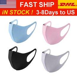 DHL / UPS Дизайнер Luxury Face Mask, черный хлопок Рот маска муфельной маски для велоспорта кемпинг путешествия, хлопок моющегося многоразового тканевые маски на Распродаже