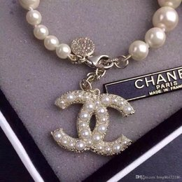 Chain Counter Australia - Designer Luxury Pearl Bracelet 100th Anniversary Bracelet 2019 Luxury Fashion Accessories Women's Jewelry Diamond 18K Gold Counter