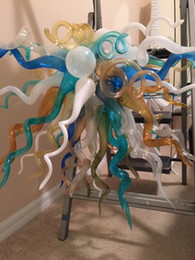$enCountryForm.capitalKeyWord Australia - Well Design Tiffany Stain Glass Chandelier Pendant Free Shipping Home Decor Custom Made Cheap Hand Blown Glass American Style Chandelier