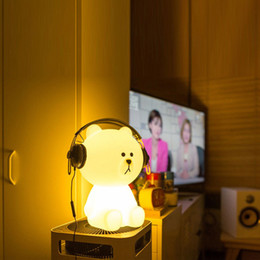 Free Christmas Gifts For Children Australia - 1PCS 30cm Brown Bear Dimmable Night Light Cony rabbit Line friend Night Lamp for Baby Children Kids Christmas Gift FREE SHIPPING