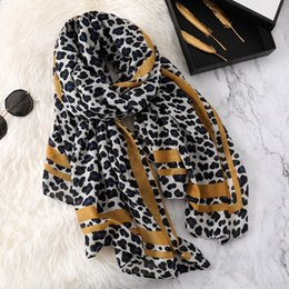 leopard scarf cotton NZ - Leopard Print 2019 cotton scarves for women winter warm scarf neck head shawls and wraps lady fashion pashmina bandana accessories