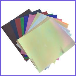 $enCountryForm.capitalKeyWord Australia - Free shipping 11 sheets A4 20cmx30cm Colorful Heat Transfer Vinyl Silver Rainbow Laser Iron on Film HTV T-shirt