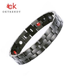 $enCountryForm.capitalKeyWord Australia - Oktrendy Men Women Healthy Magnetic Bracelet Stainless Steel Power Therapy Magnets Bangles Lovers Gift 024