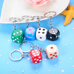 Media Keys Australia - New Product Cute Color Big Medium and small Tweezers Dice Key chain bag Pendant Creative Small Gifts Personality Creative Gift DHL HYS39