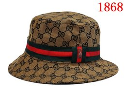 Men Fashion Sun NZ - 2019 Fashion Designer Leather Letter Bucket Hat For Mens Womens Foldable Caps Black Fisherman Beach Sun Visor Sale Folding Man Bowler Cap