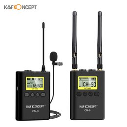 $enCountryForm.capitalKeyWord Australia - K&F CONCEPT Professional Wireless Lavalier Lapel Microphone System for Sony Nikon Canon DSLR Camera Camcorder Sound Recording