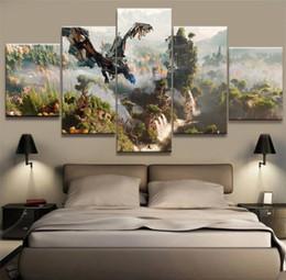 $enCountryForm.capitalKeyWord Australia - Horizon Zero Dawn Game,5 Pieces Home Decor HD Printed Modern Art Painting on Canvas (Unframed Framed)