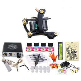 Wholesale Beginner Tattoo kit Tattoo Machine Mini Power Supply Color Ink Sets Disposable Needle Grip Tips