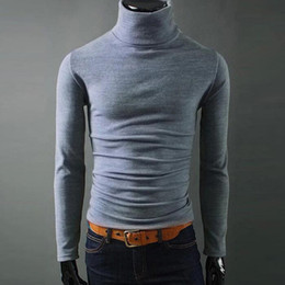 Wholesale mens casual slim fit sweaters resale online – Helisopus Mens Casual Turtleneck Sweaters Man s Knited Slim Fit Brand Sweater Pullovers Masculino